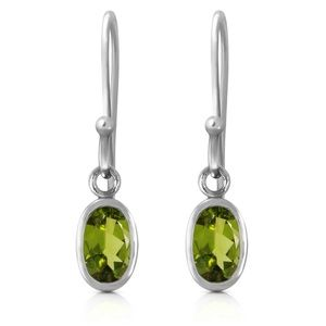 GOLD FISH HOOK EARRINGS WITH PERIDOTS